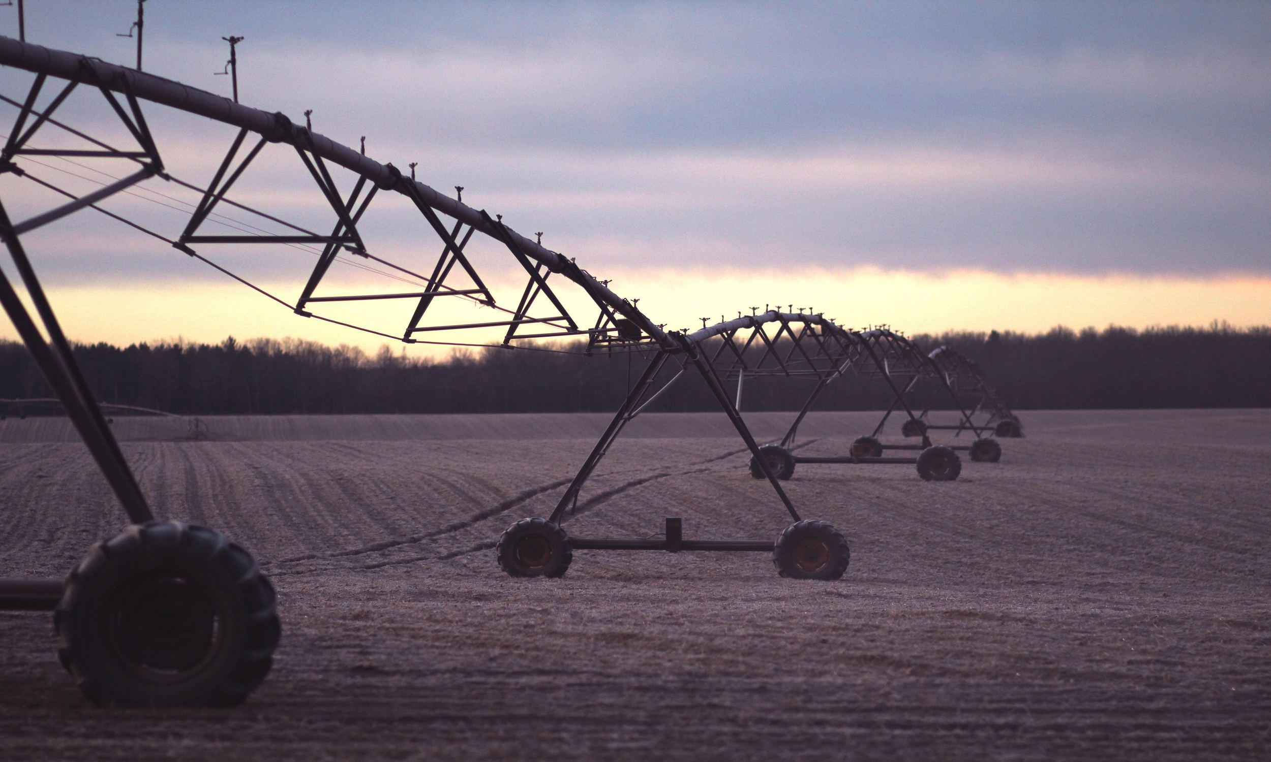 suivi du bon déroulement de l'irrigation avec les datas